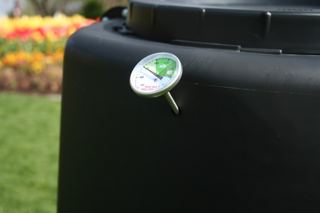 Spin Bin with thermometer